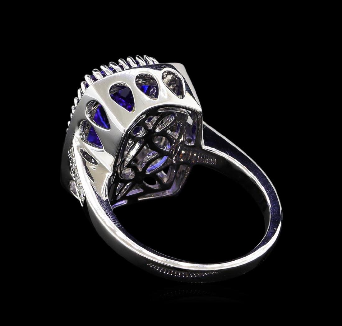 14KT White Gold 5.95 ctw Tanzanite and Diamond Ring - 3