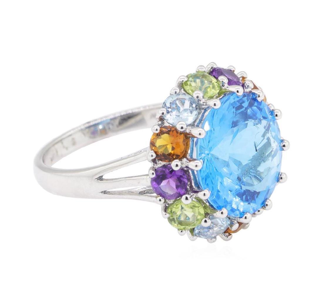 8.16 ctw Multi-Color Semi-Precious Gemstone Ring - 14KT