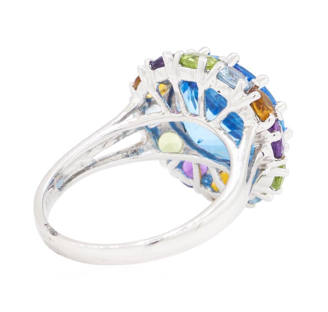 8.16 ctw Multi-Color Semi-Precious Gemstone Ring - 14KT - 3