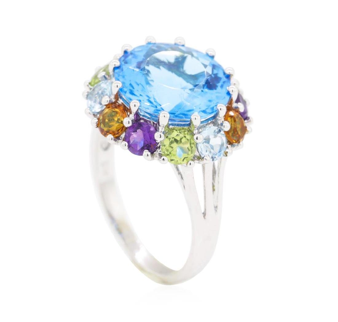 8.16 ctw Multi-Color Semi-Precious Gemstone Ring - 14KT - 4
