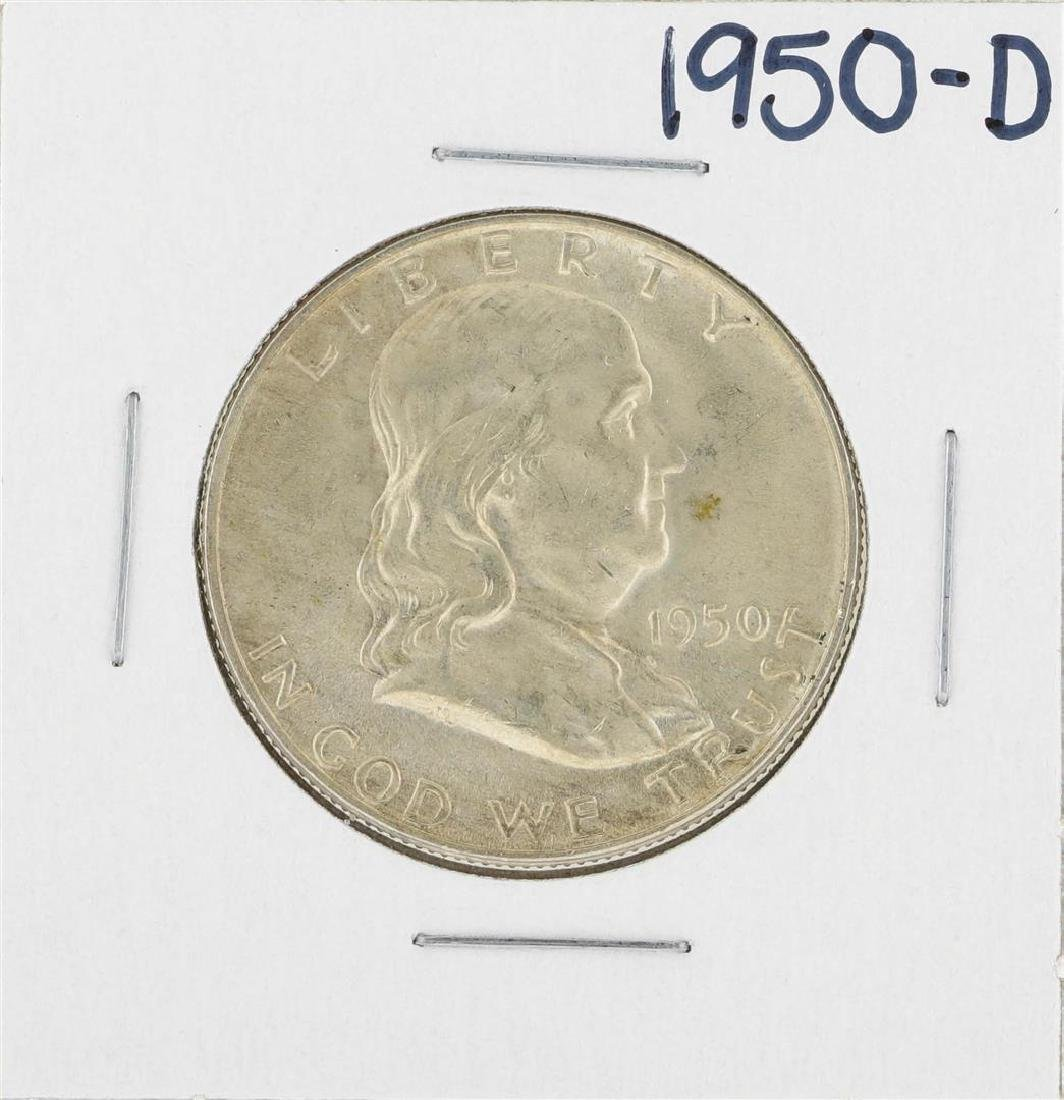 1950-D Franklin Half Dollar Silver Coin