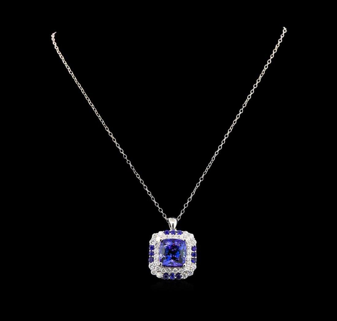 GIA Cert 16.70 ctw Tanzanite, Sapphire and Diamond