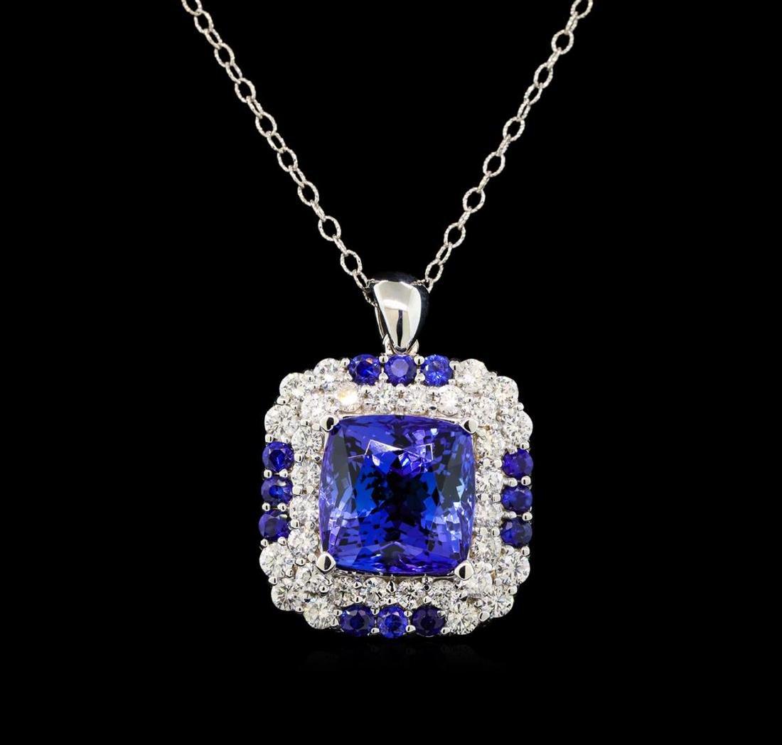 GIA Cert 16.70 ctw Tanzanite, Sapphire and Diamond - 2