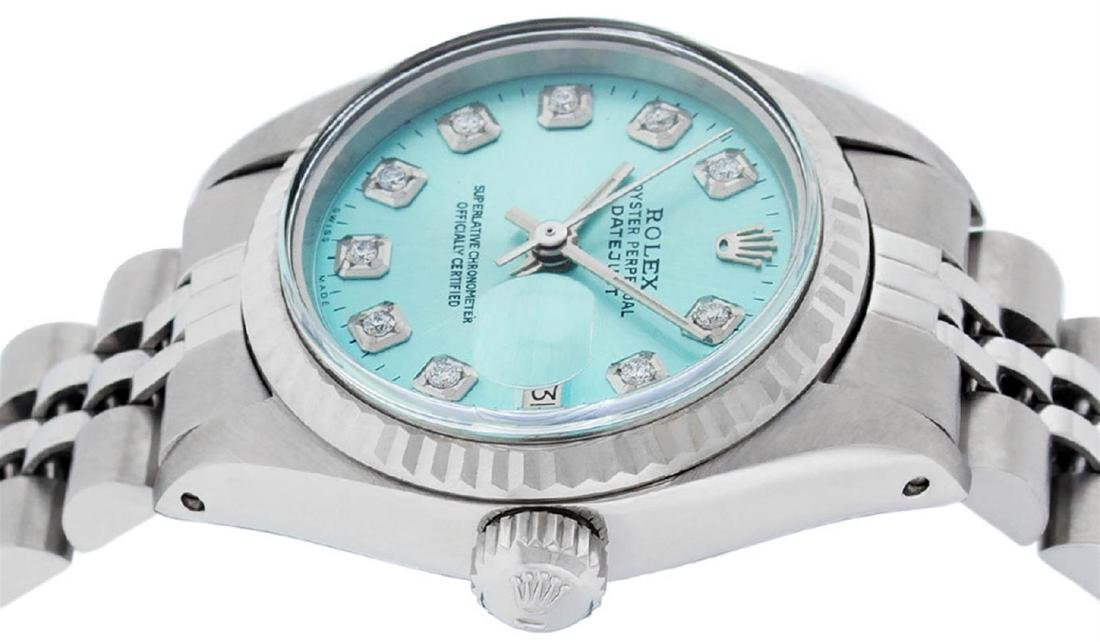 Rolex Ladies Stainless Steel Ice Blue Diamond 26MM - 3