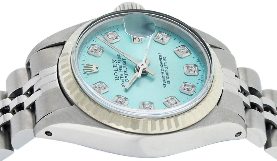 Rolex Ladies Stainless Steel Ice Blue Diamond 26MM - 4