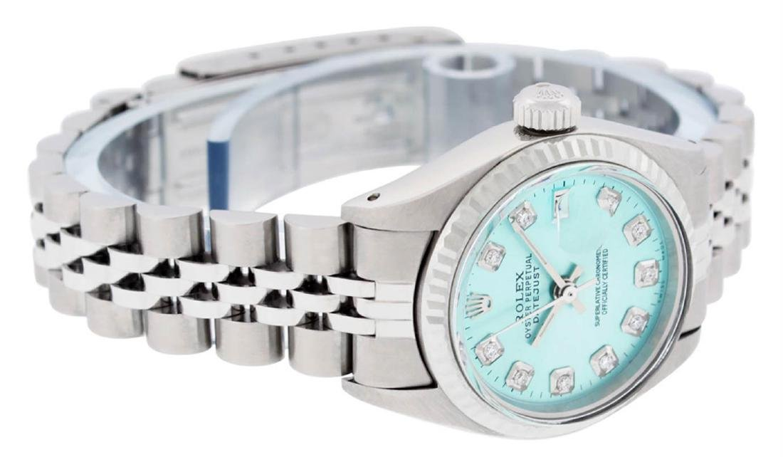Rolex Ladies Stainless Steel Ice Blue Diamond 26MM - 6