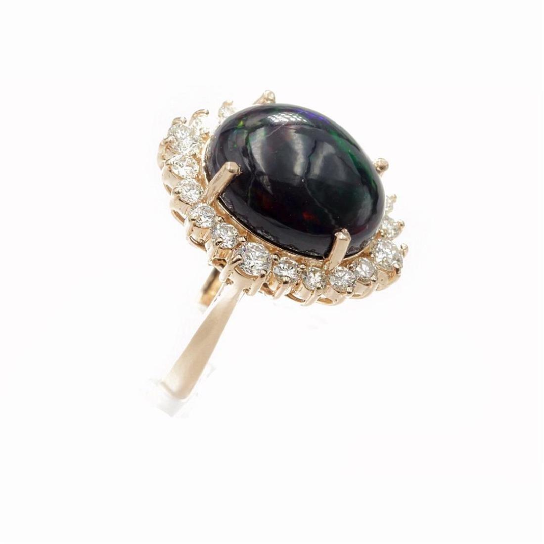 7.46 Carat Natural Diamonds & Opal Anniversary Ring in - 2