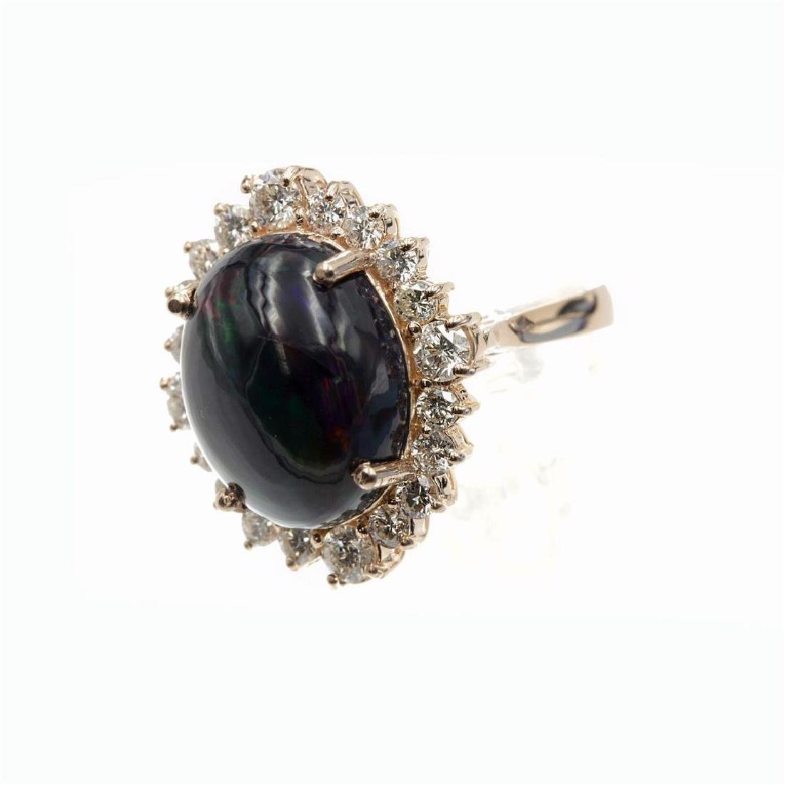 7.46 Carat Natural Diamonds & Opal Anniversary Ring in - 5