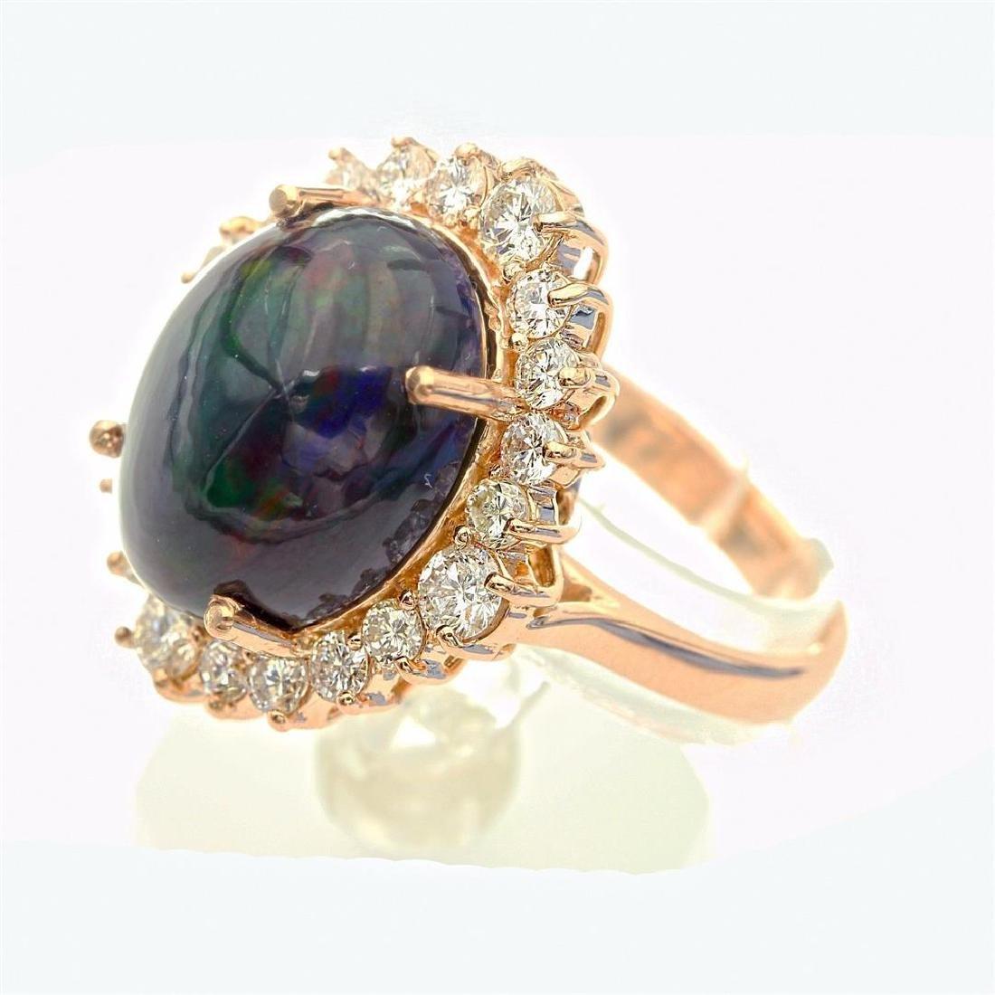 7.46 Carat Natural Diamonds & Opal Anniversary Ring in - 8