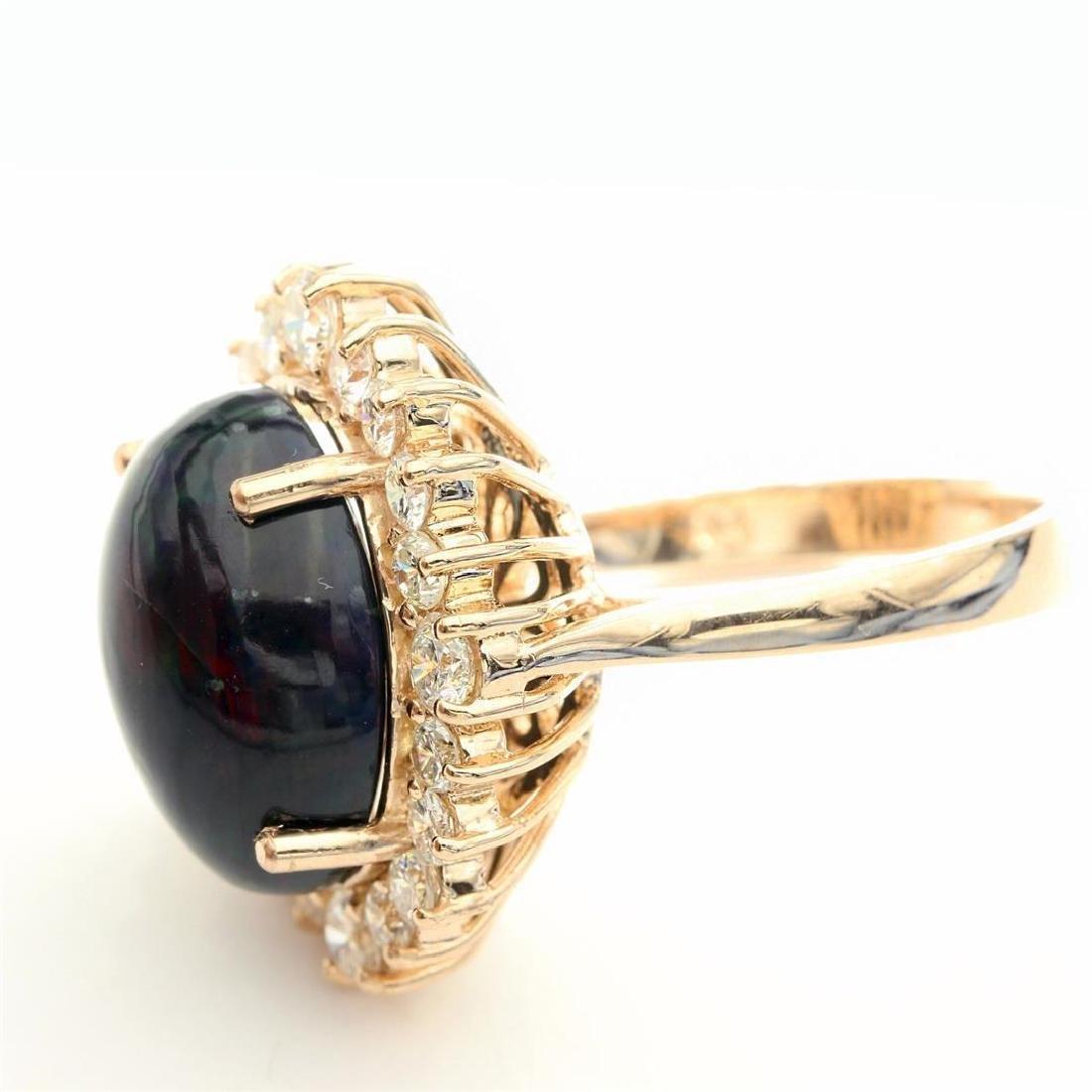 7.46 Carat Natural Diamonds & Opal Anniversary Ring in - 9