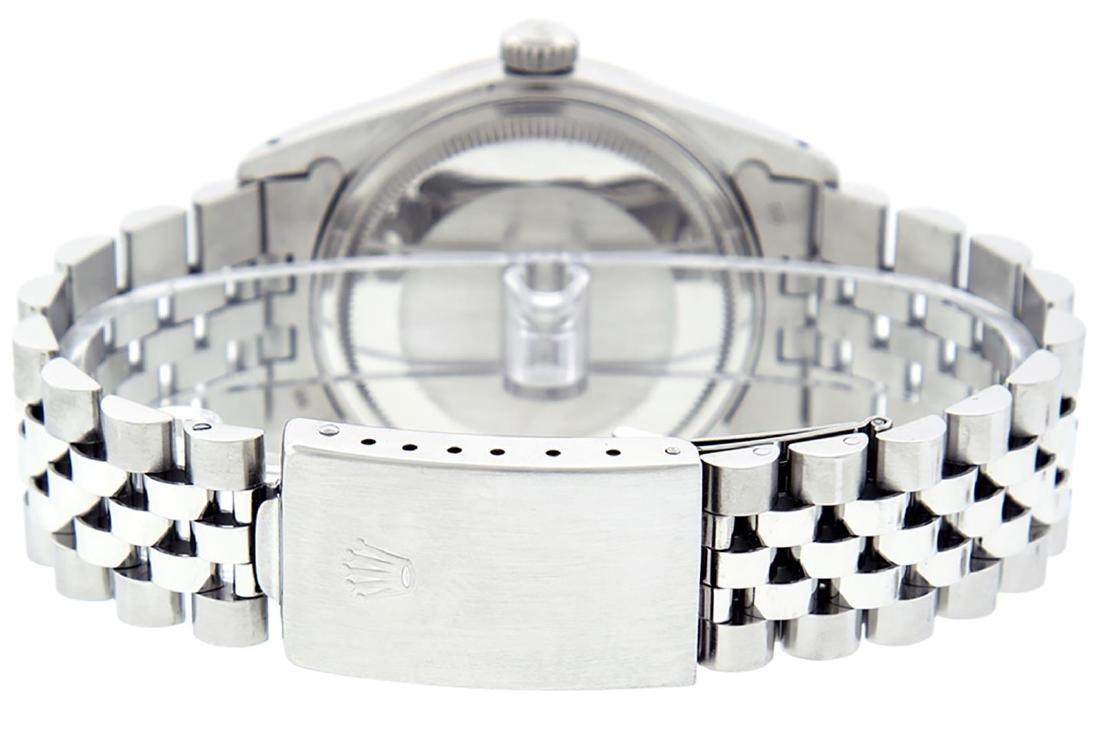 Rolex Mens Stainless Steel Gray Diamond & Sapphire 36MM - 8