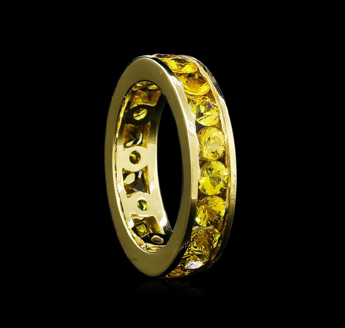 6.37 ctw Yellow Sapphire Ring - 14KT Yellow Gold - 2