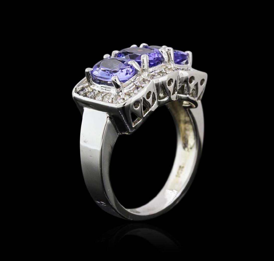 14KT White Gold 2.52 ctw Tanzanite and Diamond Ring - 3