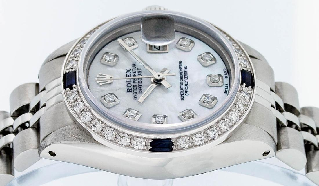 Rolex Ladies Stainless Steel Mother Of Pearl Diamond & - 3