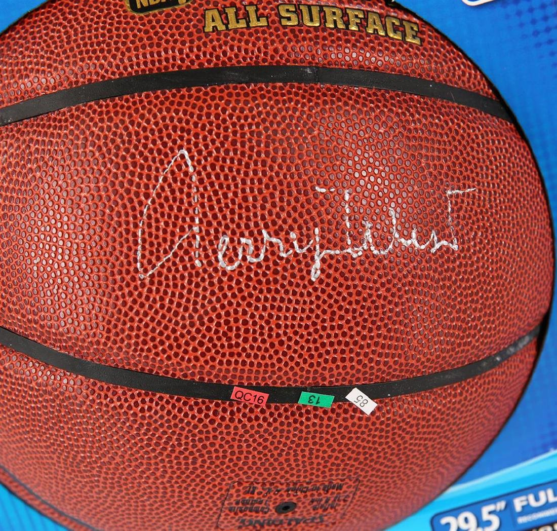 PSA Certified Jerry West Autographed Basketball - 2
