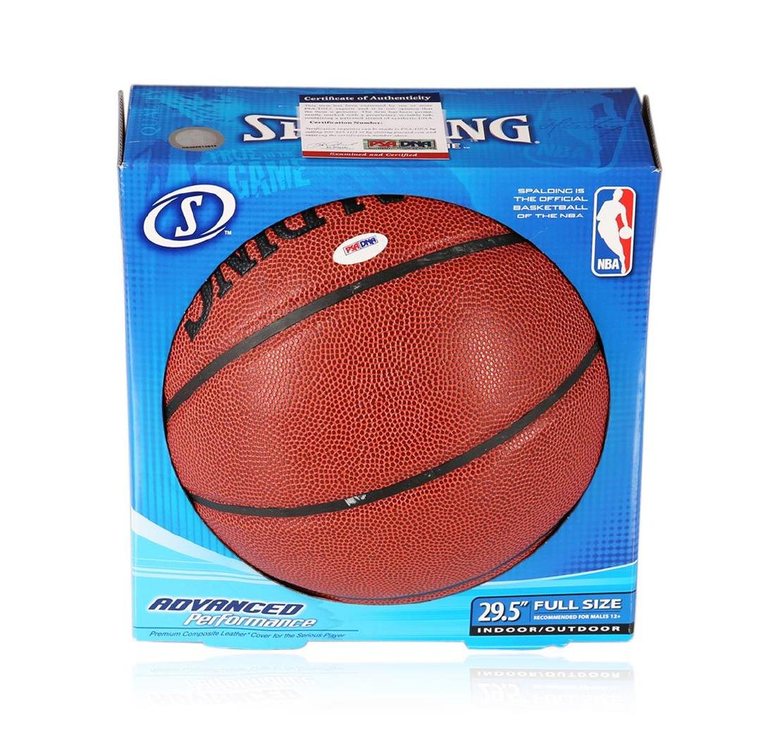 PSA Certified Jerry West Autographed Basketball - 3