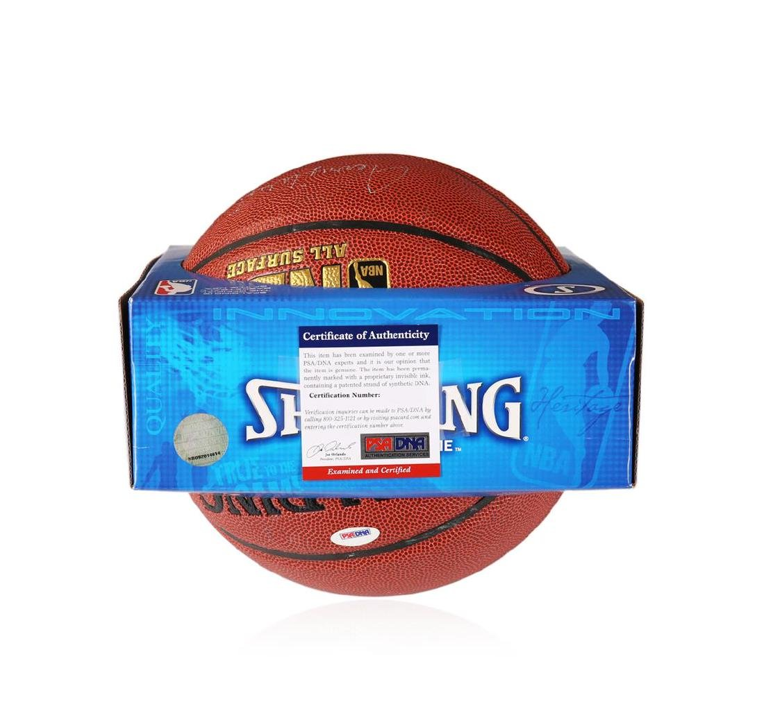 PSA Certified Jerry West Autographed Basketball - 4