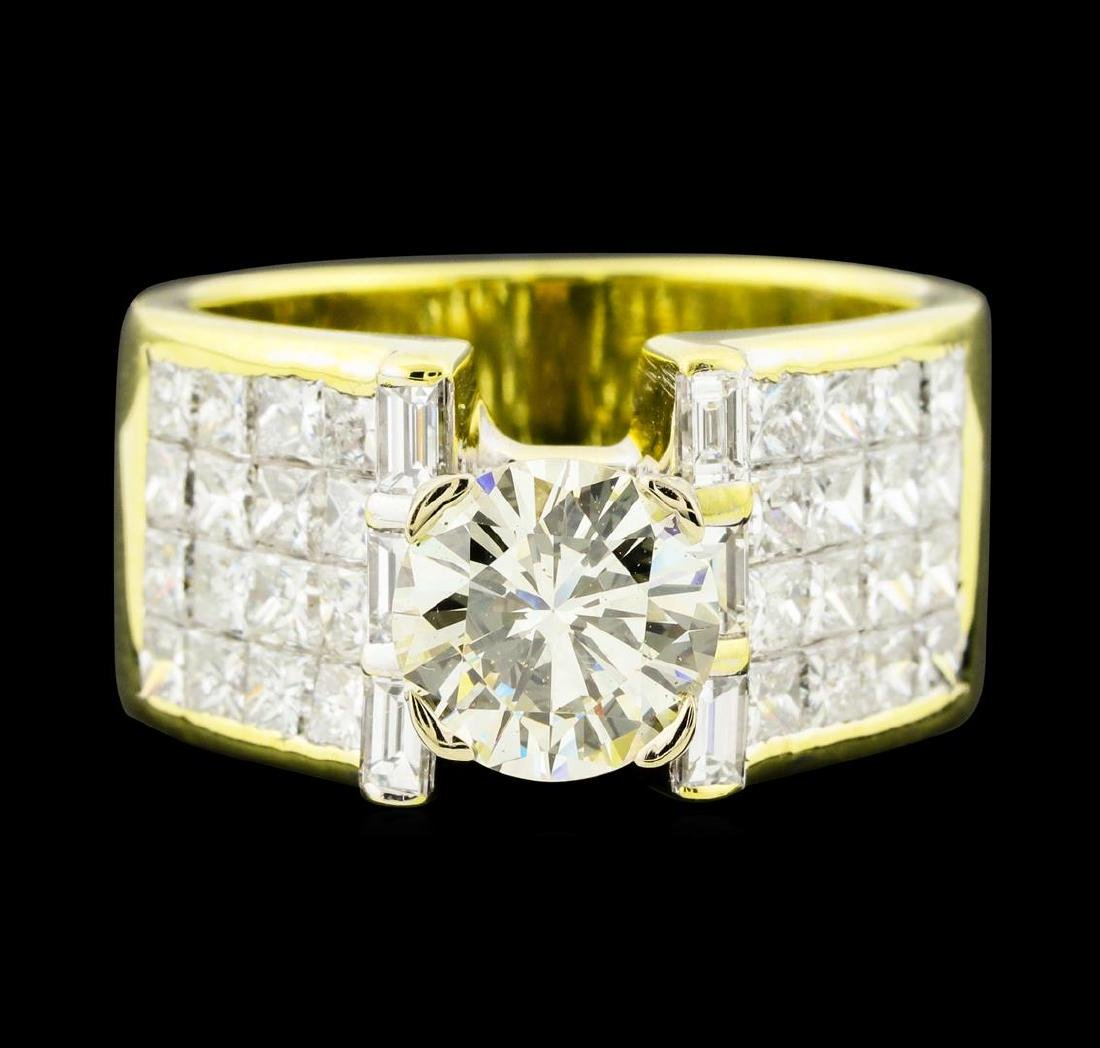 4.07 ctw Diamond Ring - 18KT Yellow Gold - 2