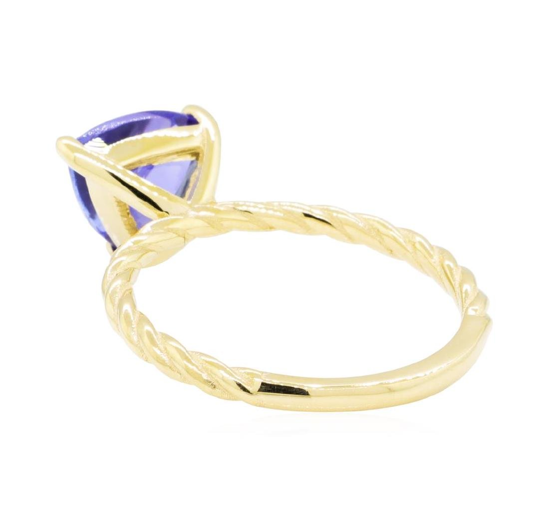 2.11 ctw Tanzanite Ring - 14KT Yellow Gold - 5