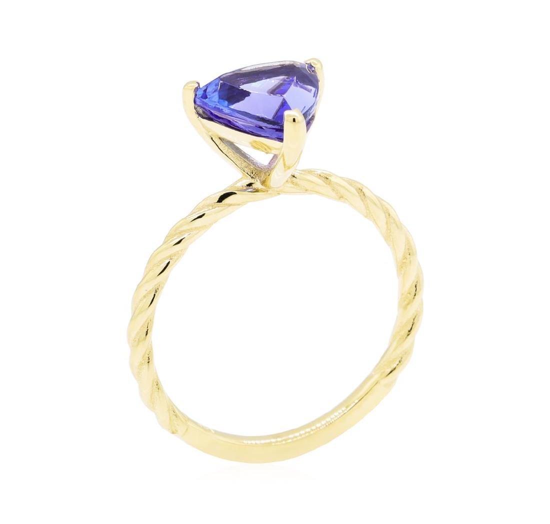 2.11 ctw Tanzanite Ring - 14KT Yellow Gold - 6