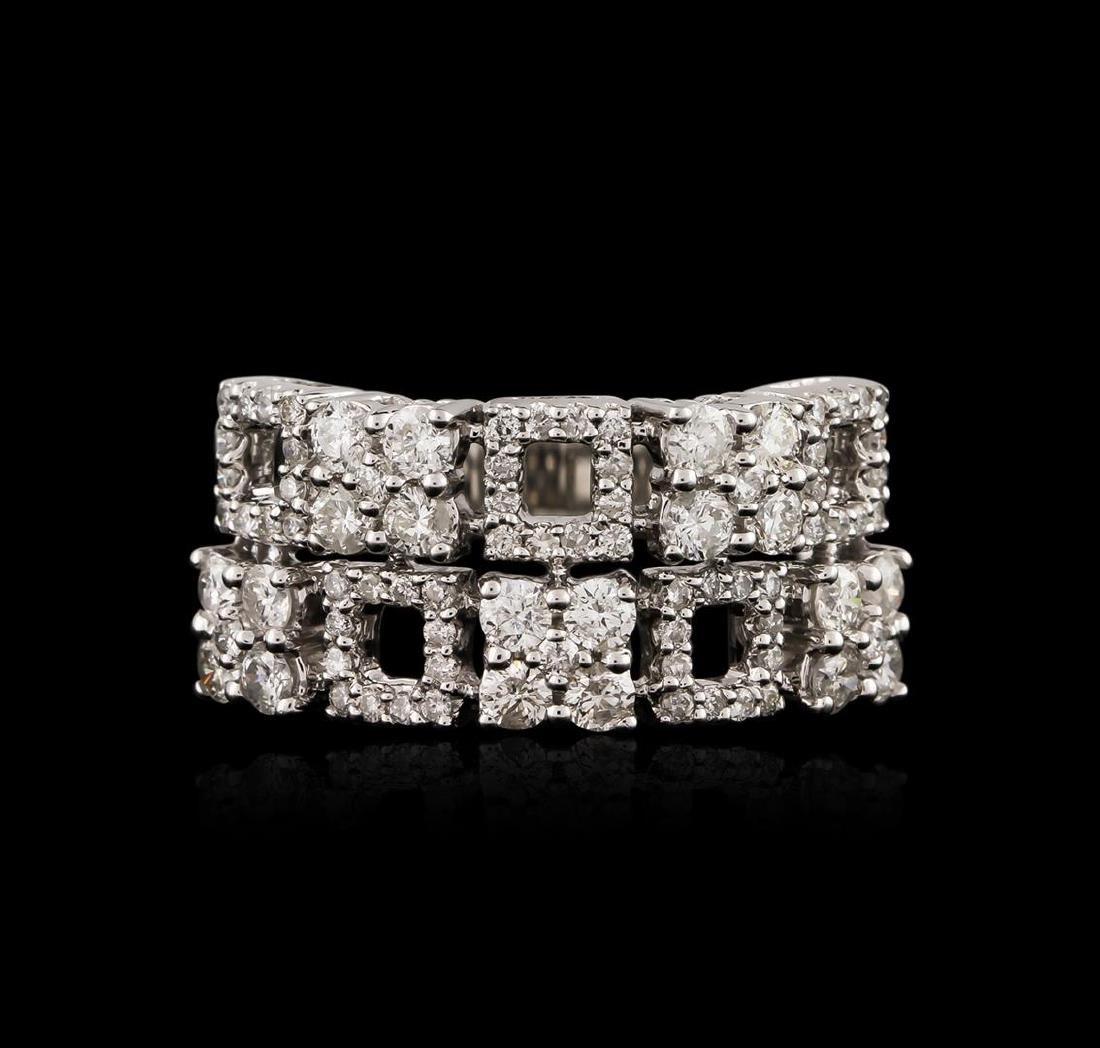 18KT White Gold 1.70 ctw Diamond Ring - 2