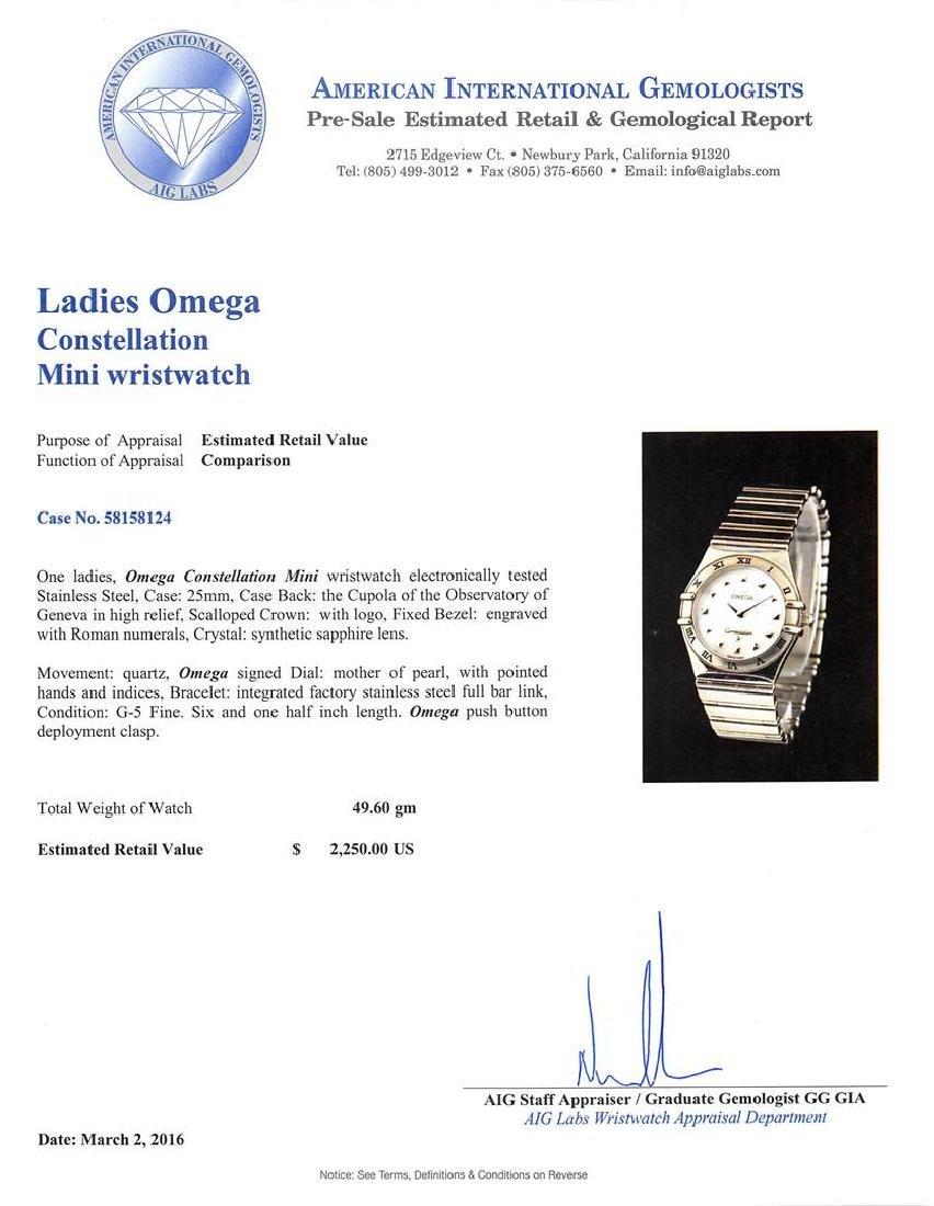 Omega Stainless Steel Constellation Ladies Watch - 5