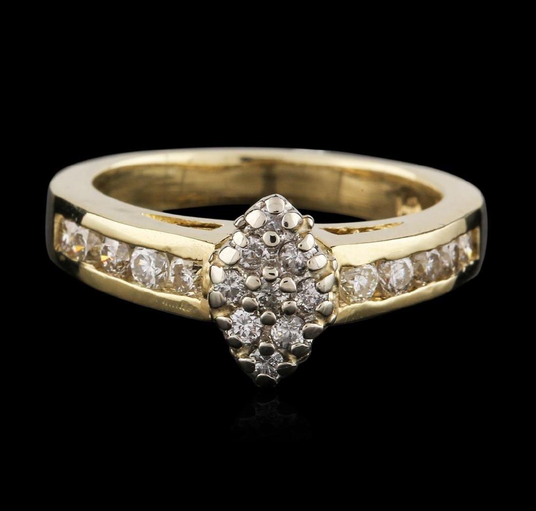 14KT Yellow Gold 0.95 ctw Diamond Ring - 2
