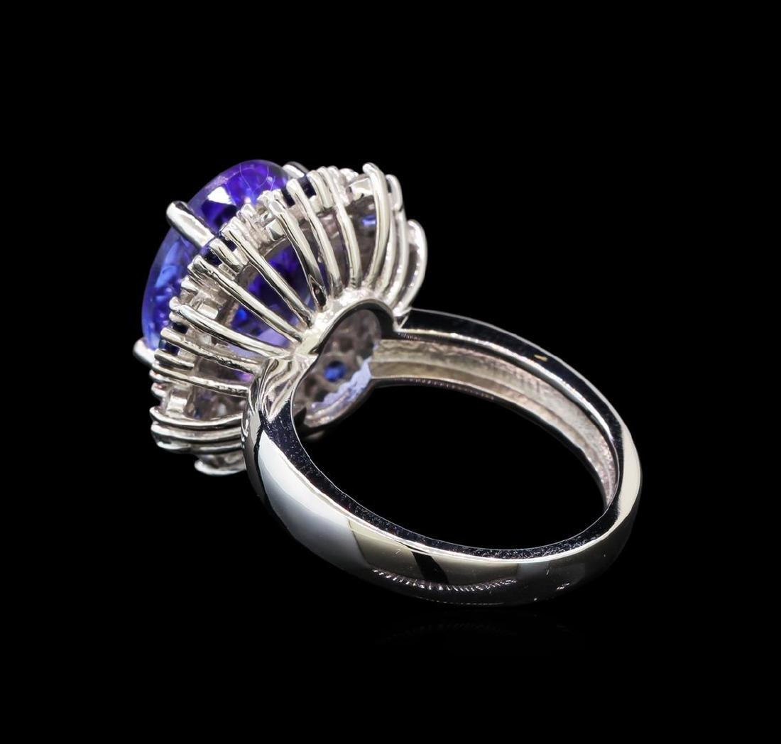 14KT White Gold 6.56 ctw Tanzanite, Sapphire and - 3
