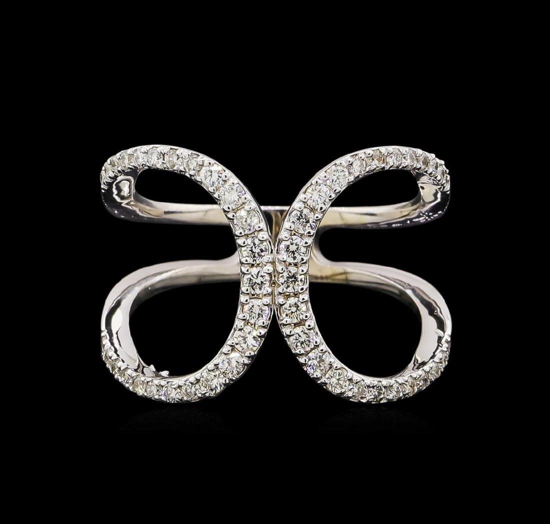 0.51 ctw Diamond Ring - 14KT White Gold - 2