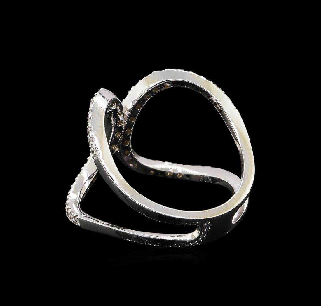 0.51 ctw Diamond Ring - 14KT White Gold - 3