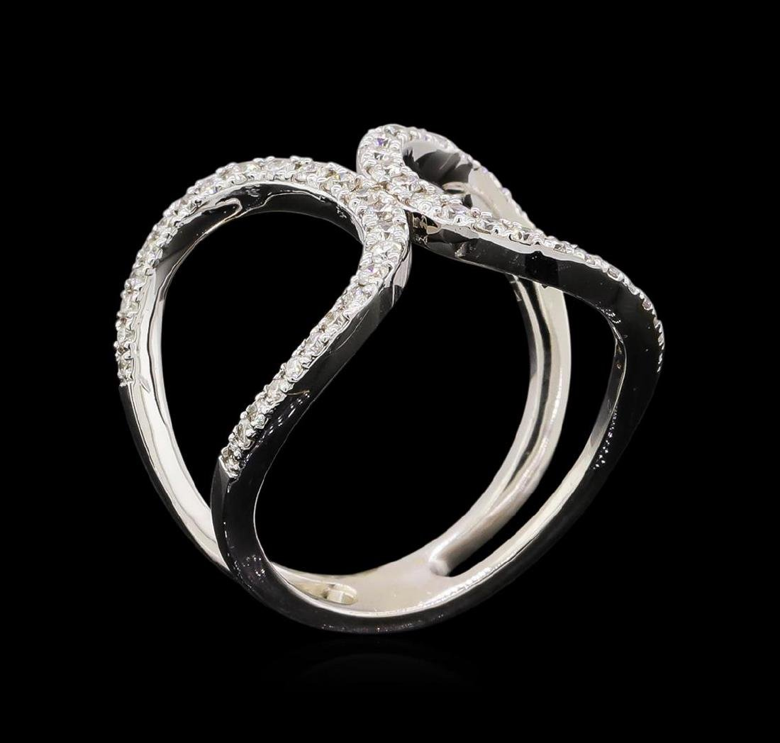 0.51 ctw Diamond Ring - 14KT White Gold - 4