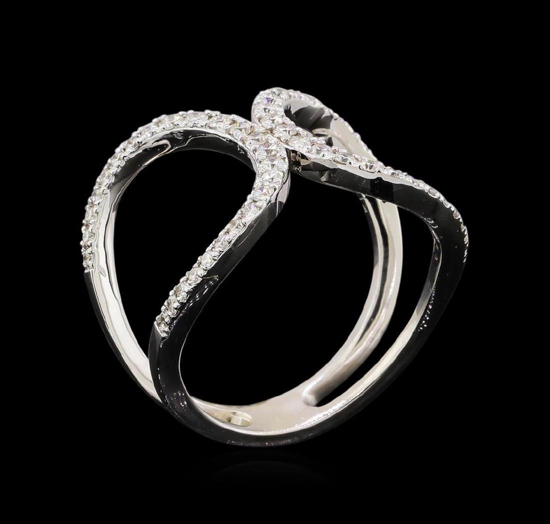 0.51 ctw Diamond Ring - 14KT White Gold - 4