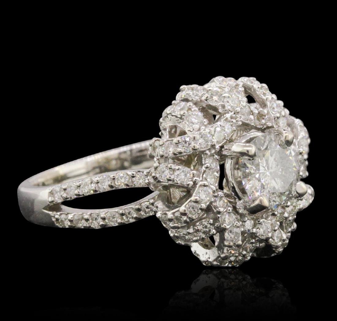 14KT White Gold 1.22 ctw Diamond Ring - 2