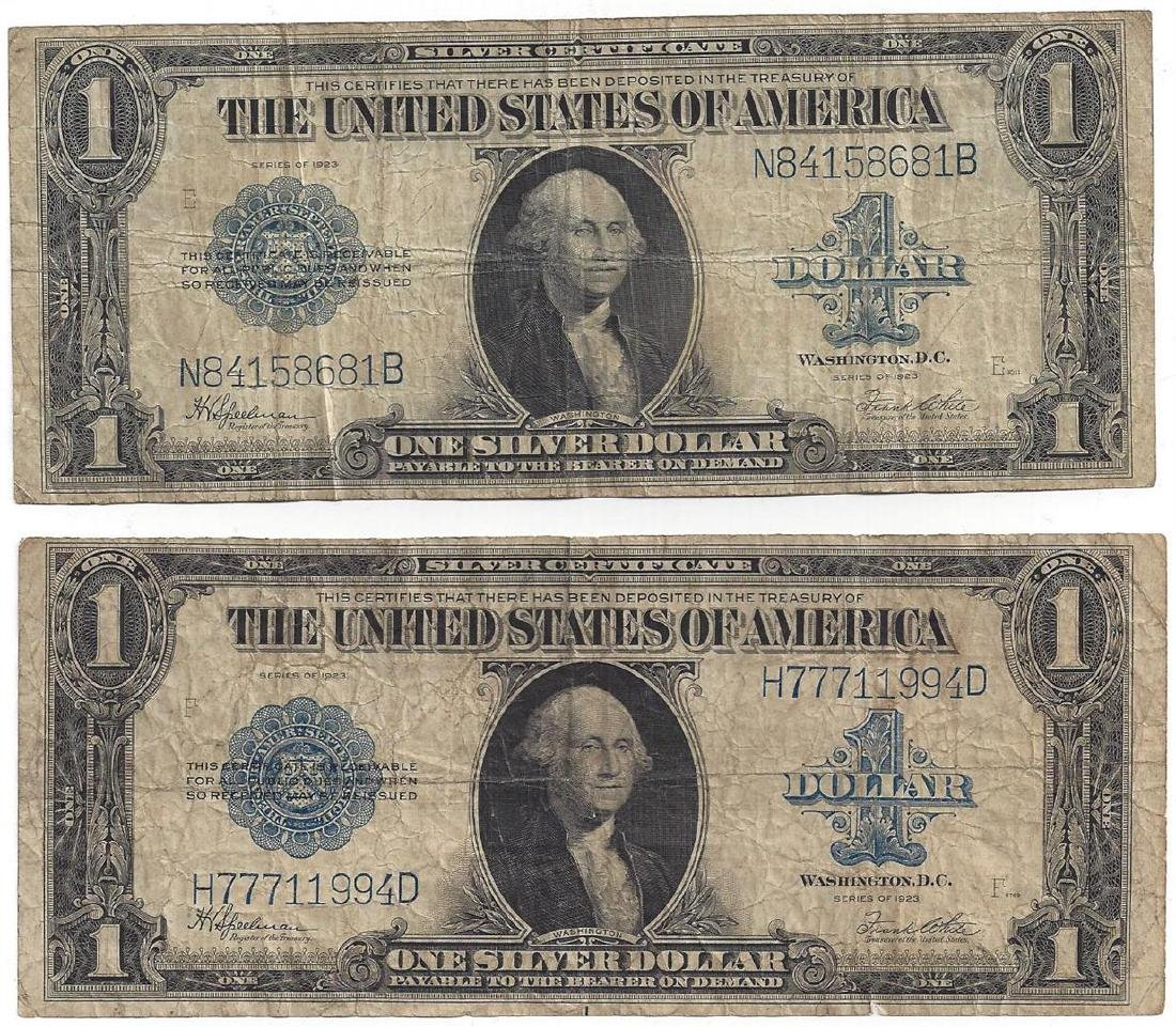 1923 $1 Large Silver Certificate Speelman / White Notes