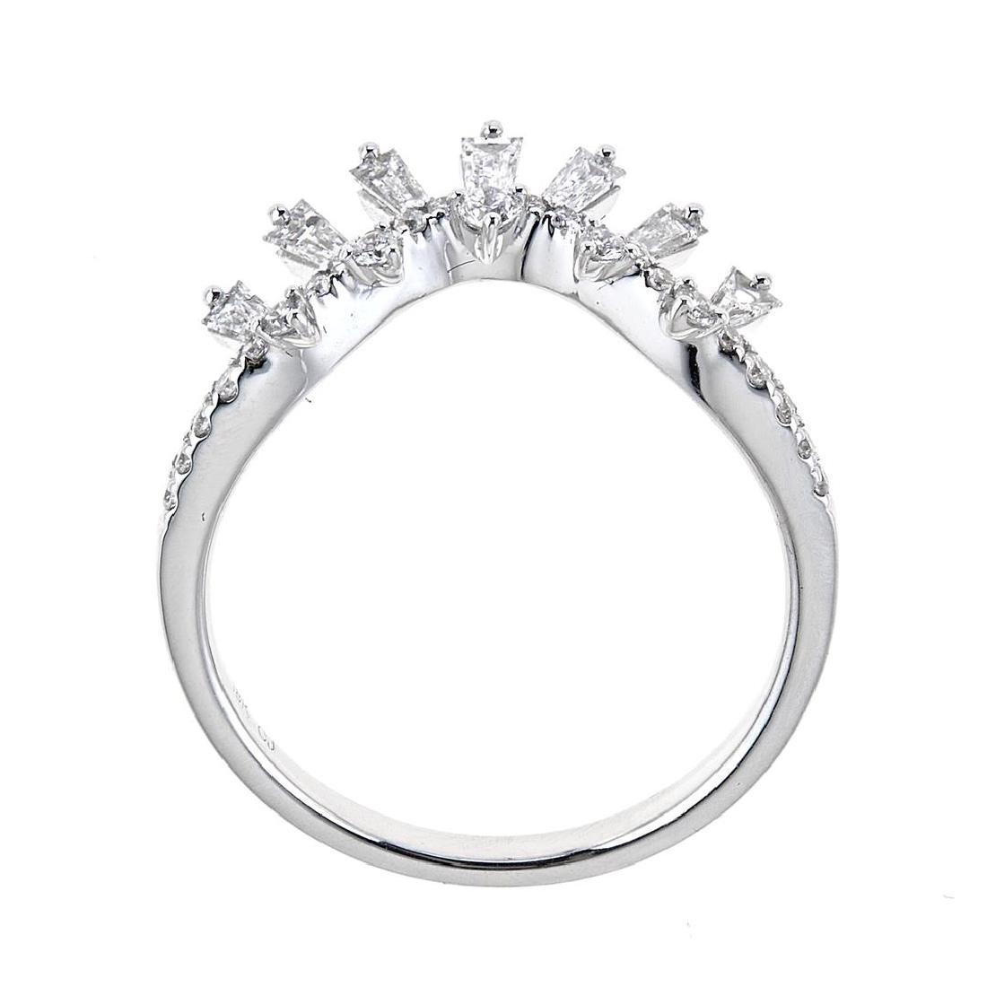 0.47 ctw Diamond Ring - 18KT White Gold - 2