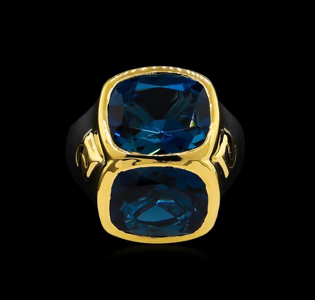 Crayola 10.90 ctw Blue Topaz Ring - .925 Silver - 2