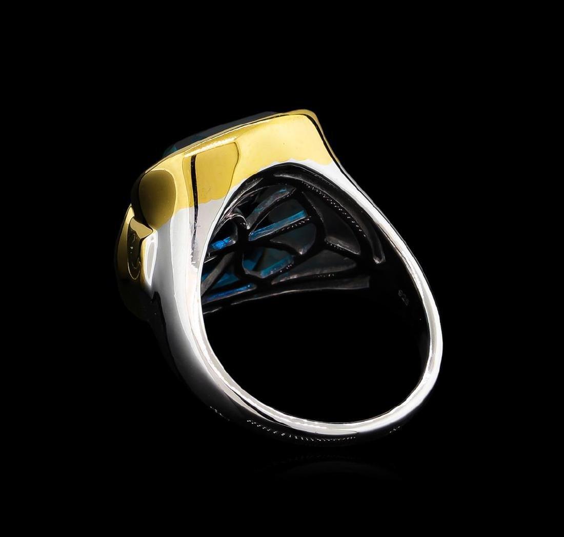Crayola 10.90 ctw Blue Topaz Ring - .925 Silver - 3