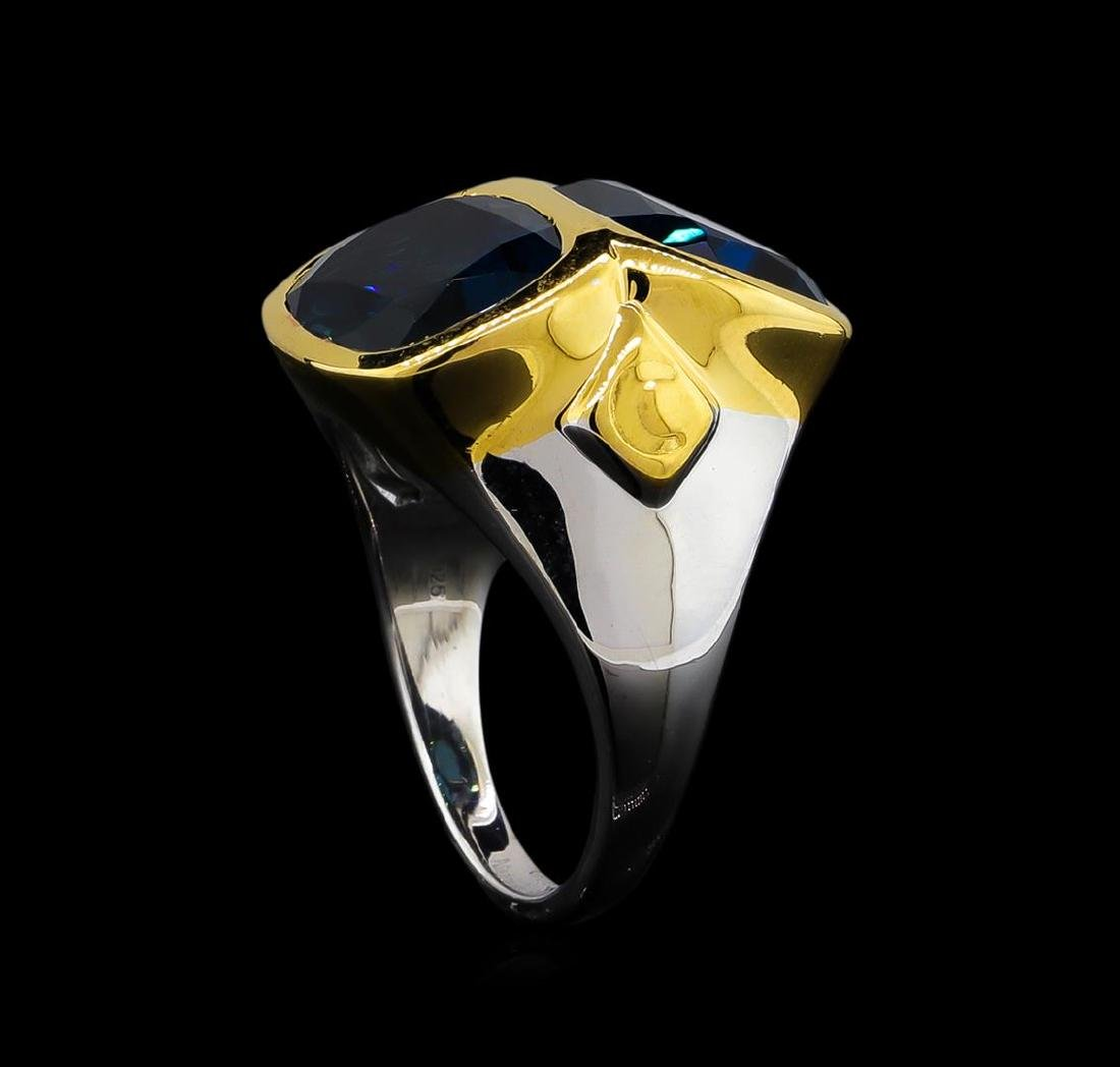 Crayola 10.90 ctw Blue Topaz Ring - .925 Silver - 4