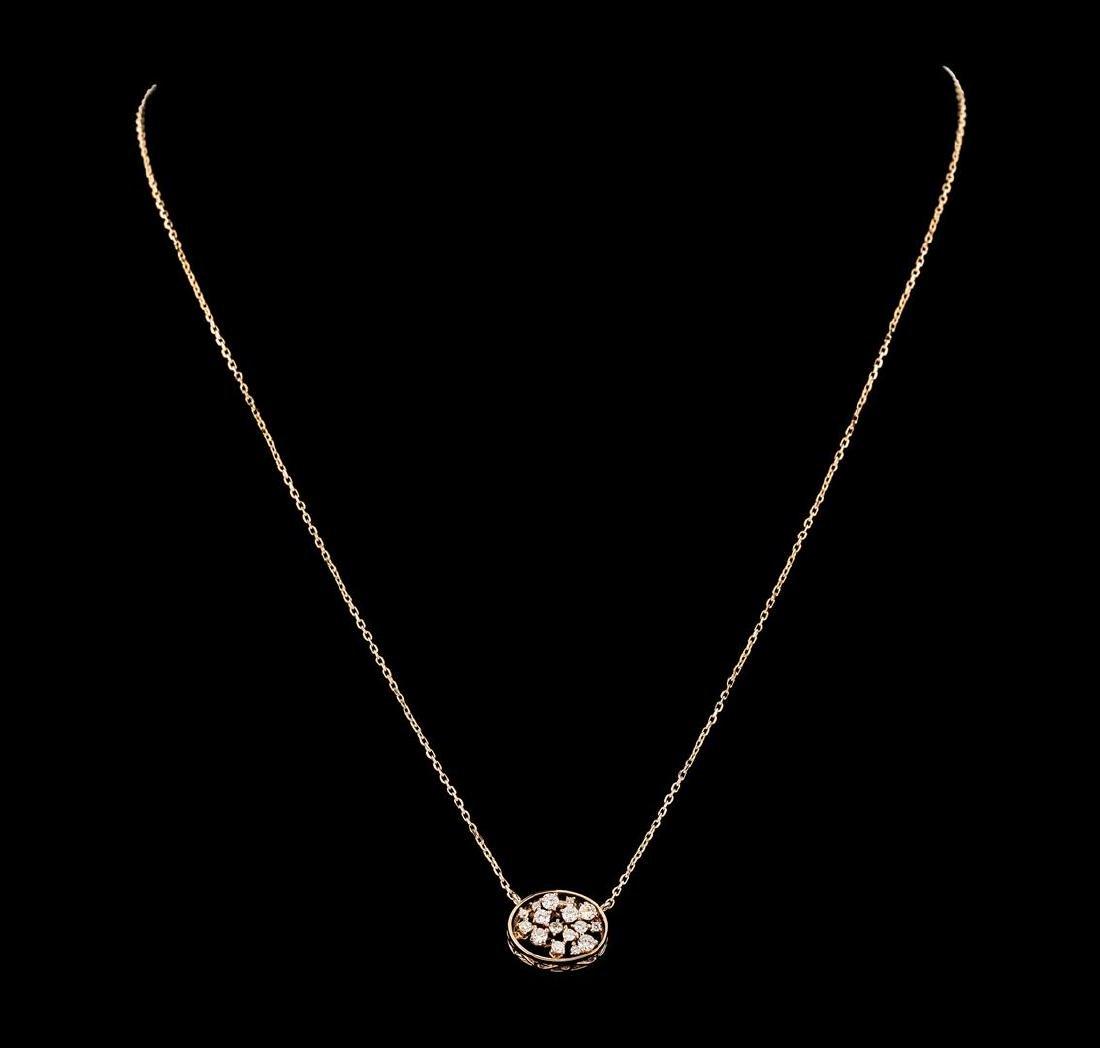 0.35 ctw Diamond Necklace - 14KT Rose Gold