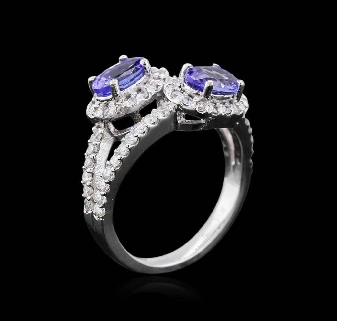 14KT White Gold 1.37 ctw Tanzanite and Diamond Ring - 3