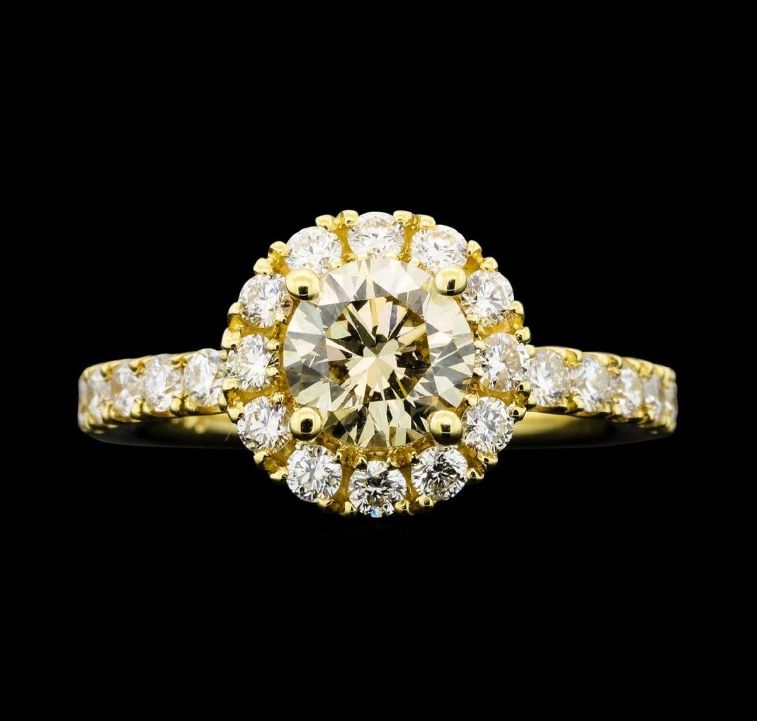 1.66 ctw Diamond Ring - 14KT Yellow Gold - 2