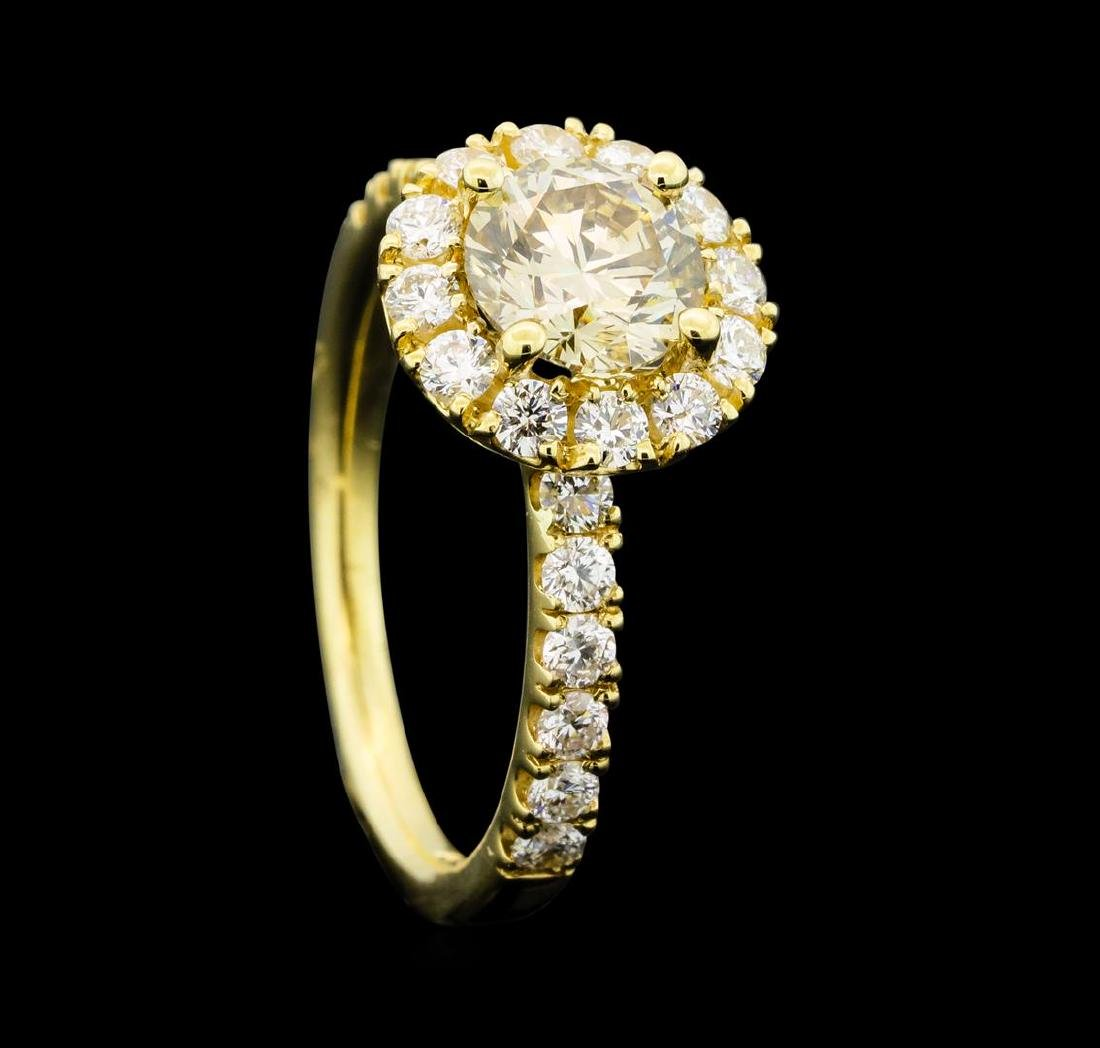 1.66 ctw Diamond Ring - 14KT Yellow Gold - 4