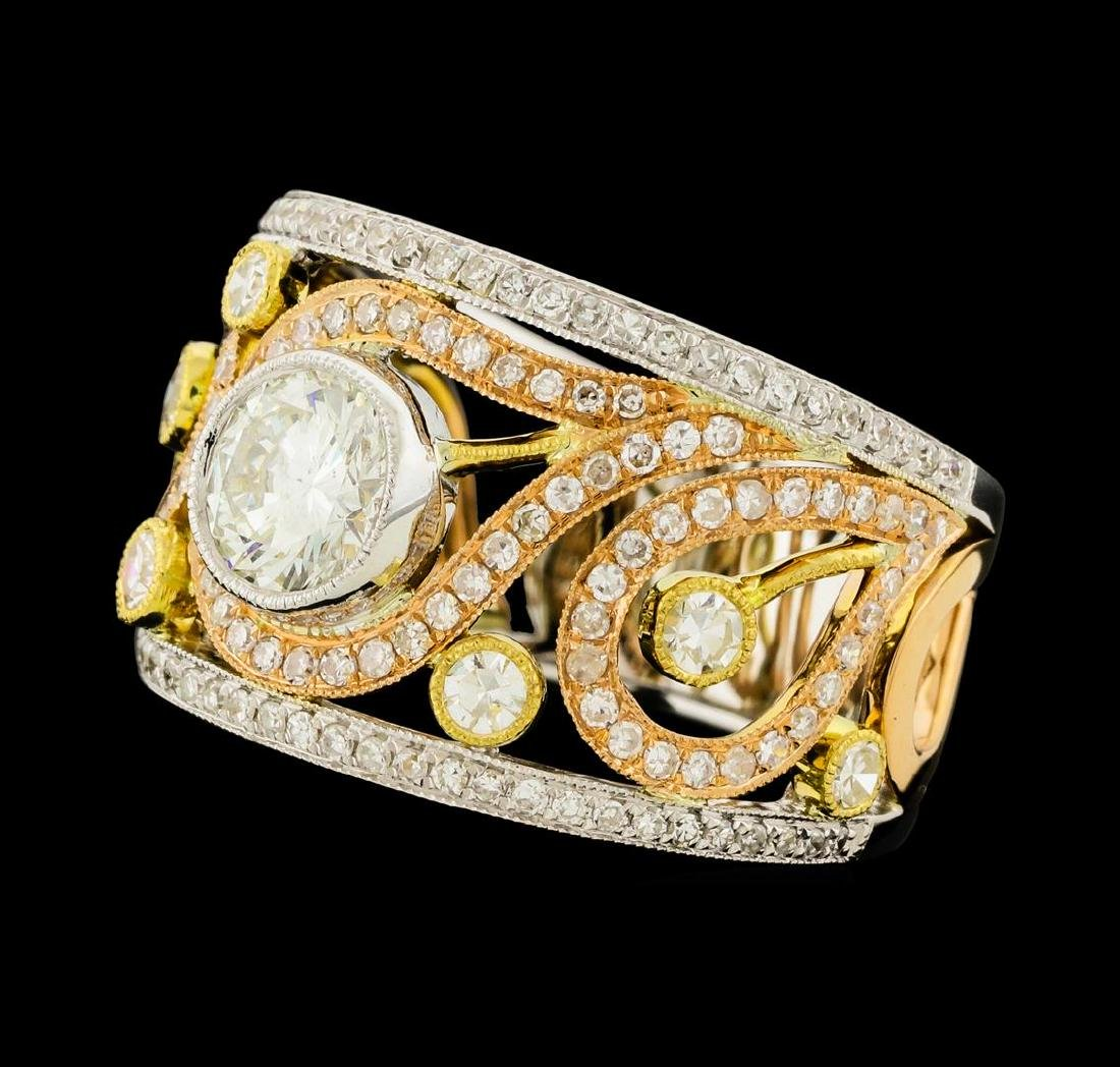 1.65 ctw Diamond Ring - 18KT Yellow, White, and Rose