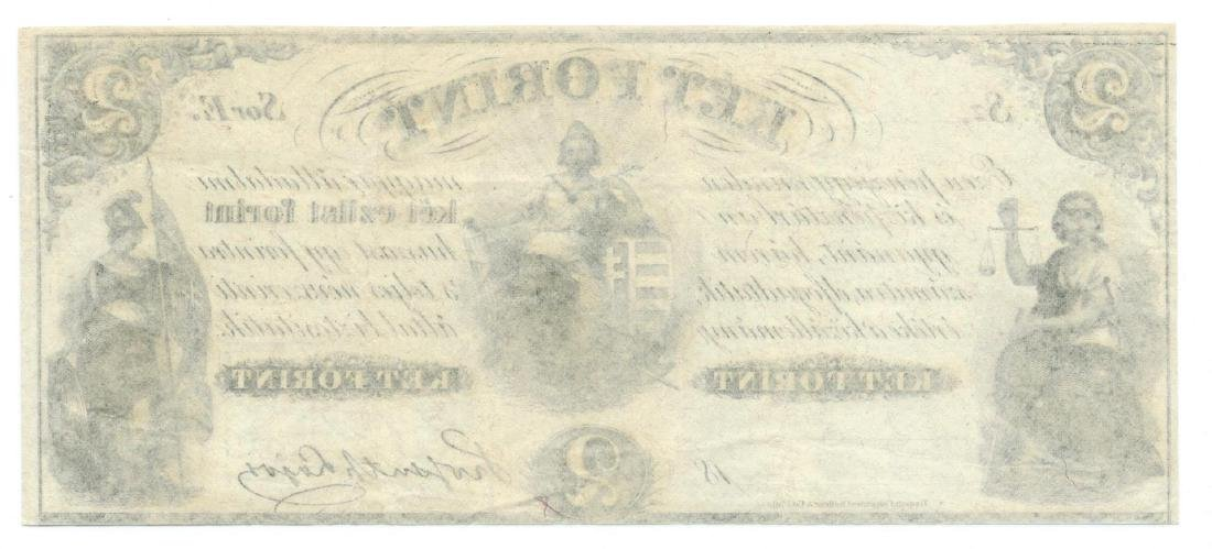 1800's $2 Ket Forint Obsolete Bank Note - 2