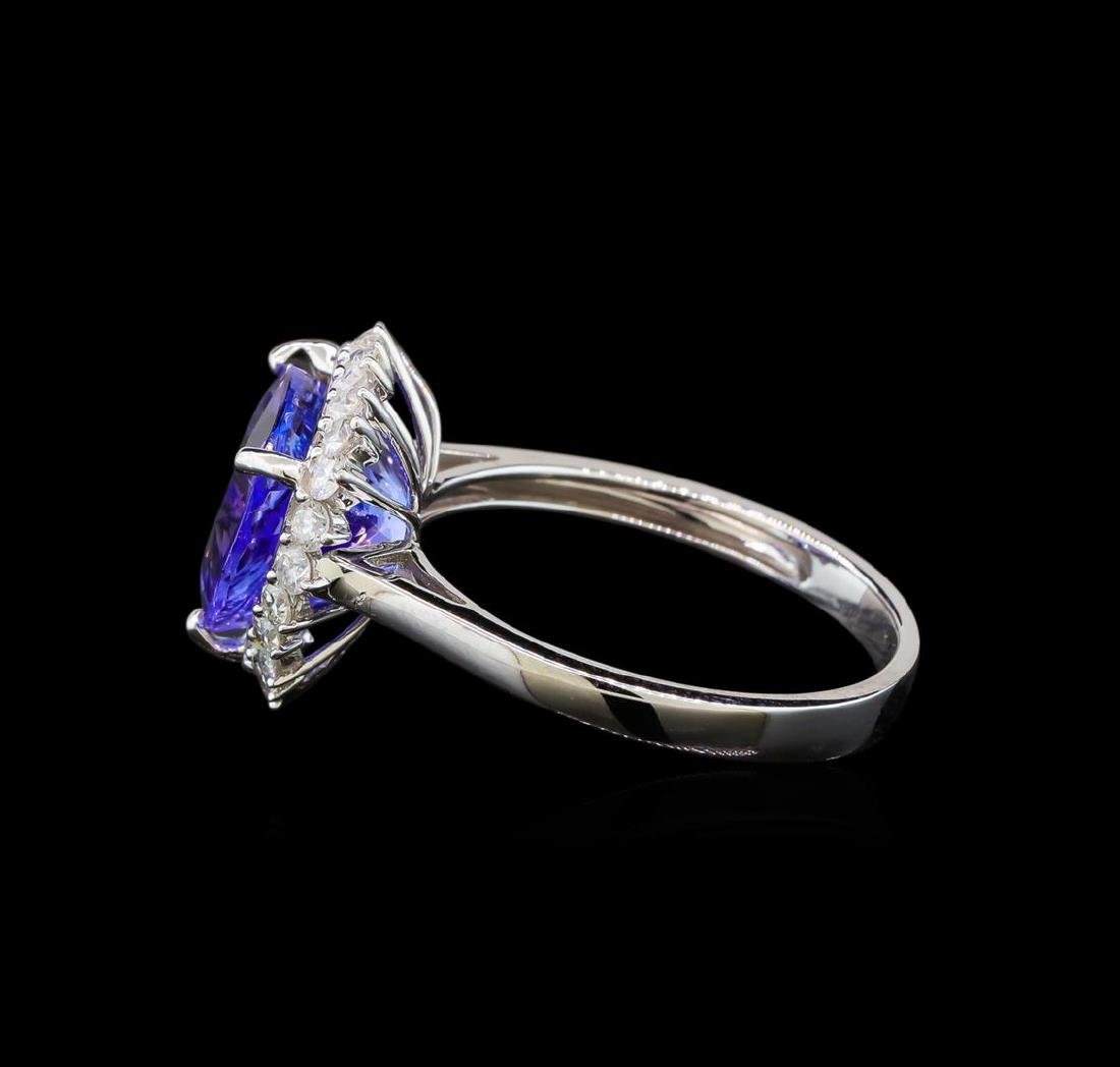 14KT White Gold 2.78 ctw Tanzanite and Diamond Ring - 3