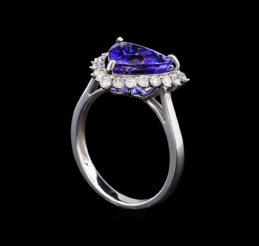 14KT White Gold 2.78 ctw Tanzanite and Diamond Ring - 4