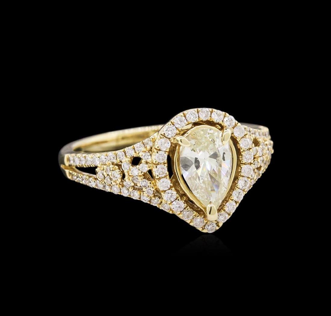 14KT Yellow Gold 1.78 ctw Diamond Unity Ring