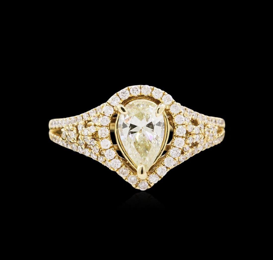 14KT Yellow Gold 1.78 ctw Diamond Unity Ring - 2