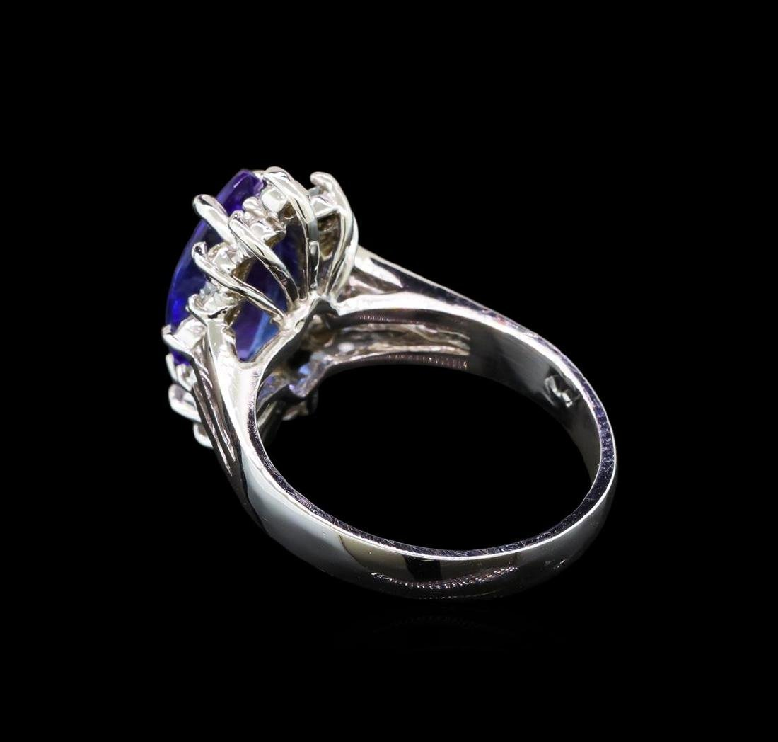 14KT White Gold 2.76 ctw Tanzanite and Diamond Ring - 3