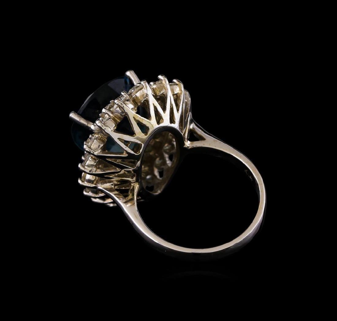 14KT White Gold 12.42 ctw Topaz and Diamond Ring - 3